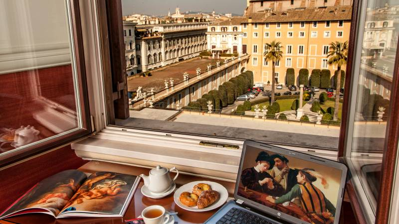 Hotel-Cosmopolita-Roma-breakfast-view